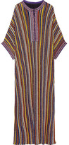 Missoni Striped Metallic Knitted Maxi Dress - Yellow