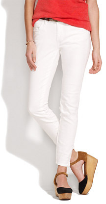 Madewell Skinny skinny ankle jeans in white wash