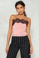 Nasty Gal As You Pleat Lace Crop Top