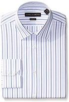 Vince Camuto Men's Dobby Stripe Modern Fit Dress Shirt
