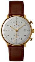Junghans 027/7800.00 Leather Strap Watch, Camel