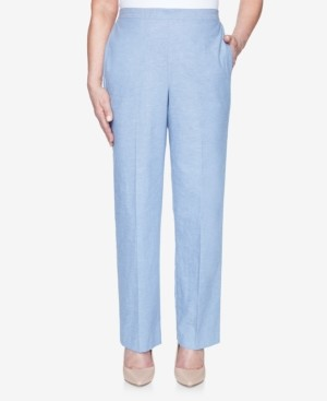 Alfred Dunner Pull On Back Elastic Chambray Proportioned Pant