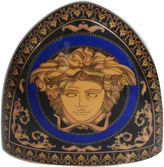 One Kings Lane Vintage Limoges French Blue Medusa Clock