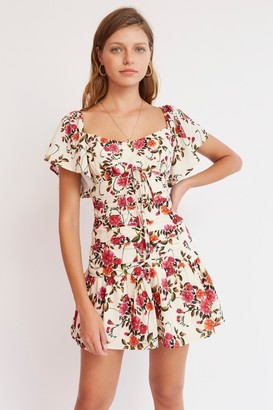 Finders Keepers FLORA MINI DRESS Cream Bloom