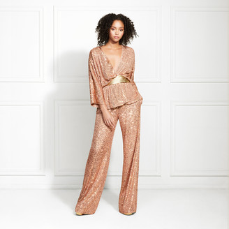 Rachel Zoe Jude Sequin Straight Leg Trousers