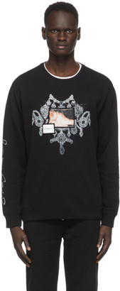 Givenchy Black Patch Chandelier Jewelry Print Sweatshirt