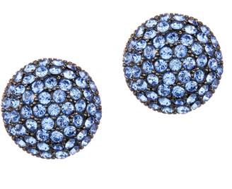 Nina Jewelry Swarovski Crystal Pave Button Earrings