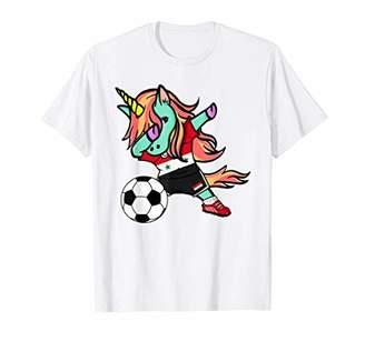 Unicorn Dabbing Syria Soccer Jersey Syrian Football T Shirt