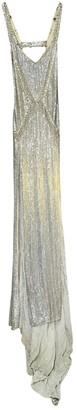 Julien Macdonald Julien Mac Donald Silver Silk Dress for Women Vintage