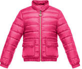 Moncler Lans Flap-Pocket Lightweight Down Puffer Jacket, Size 2-6