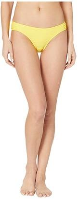 Jessica Simpson Rose Bay Side Shirred Hipster Bottoms (Lemon) Women's Swimwear