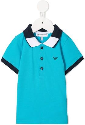 Emporio Armani Kids Contrasting Trim Polo Shirt
