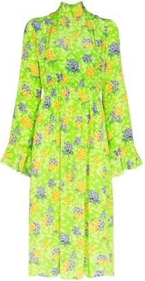 Les Rêveries Hyacinth pleated midi dress