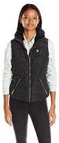 U.S. Polo Assn. Women's Puffer Vest with Shirttail Hem