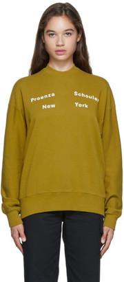 Proenza Schouler Green Fluid Logo Sweatshirt