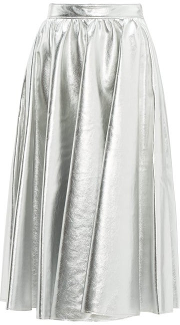 7a2e73af4240 Faux Leather Flare Skirt - ShopStyle