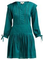 Sea Hemingway Pintuck Cotton Dress - Womens - Dark Green