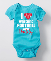 Turquoise 'I Love Watching Football Daddy' Bodysuit - Infant