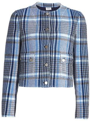 Akris Punto Plaid Tweed Crop Jacket