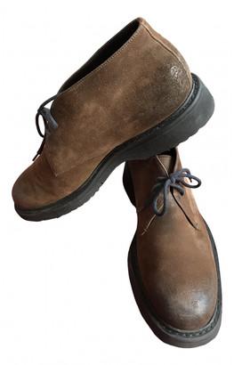 Prada Camel Suede Boots