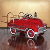 The Well Appointed House Dexton Fire Fighter Comet Sedan Pedal Car for Kids - ON BACKORDER UNTIL 2017