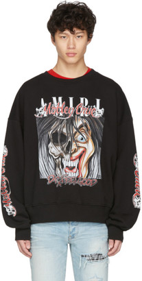 Amiri Black Oversized Motley Crue Dr Feelgood Sweatshirt