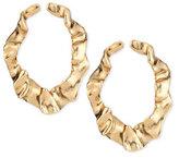 Oscar de la Renta Flounced Golden Ribbon Earrings