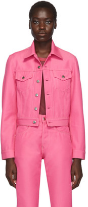 Helmut Lang Pink Denim Masc Trucker Jacket