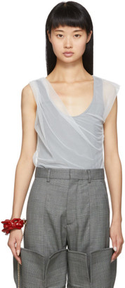 Y/Project Grey and White Condom Tank Top