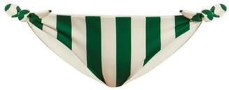 Solid & Striped The Jane Striped Bikini Briefs - Green Stripe