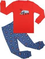 BOOPH Boys Pajamas 2 Piece Robot Long Sleeve Pajama Set 100% Cotton sleepwear 2T- (, white)