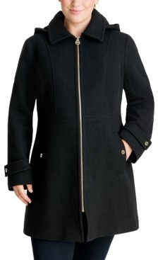 Michael Kors Michael Plus Size Hooded Coat, Created for Macy's