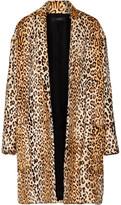 Ellery Mariel Leopard-Print Goat Hair Coat