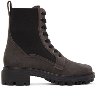 Rag & Bone Brown Suede Shiloh Combat Boots