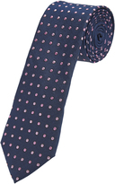 Oxford Tie Silk Spot Print Pink Regular