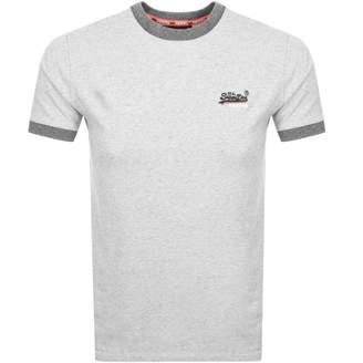 Superdry Orange Label Ringer T Shirt Grey