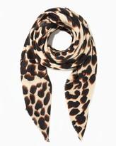 Charming charlie Leopard Print Blanket Scarf