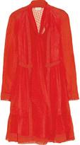 Temperley London Holzer lace-trimmed fil coupé silk-voile mini dress