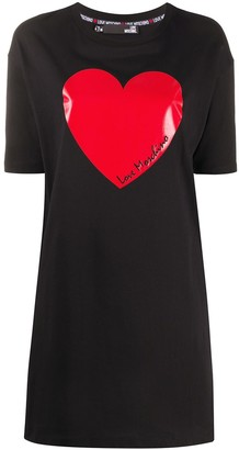 Love Moschino heart print T-shirt dress