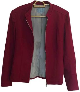 Jigsaw Red Wool Jacket for Women