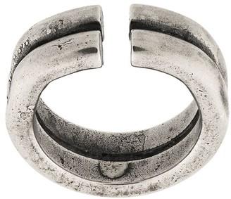 Goti Stacked Logo Embossed Ring