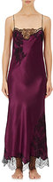 Carine Gilson Women's Lace-Trimmed Silk Charmeuse Gown