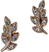 Pilgrim Crystal Leaf Stud Earrings