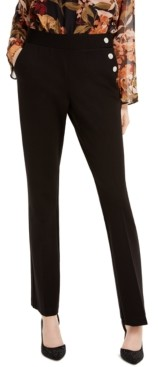 INC International Concepts Inc Petite Snap-Trim Bootcut Pants, Created for Macy's