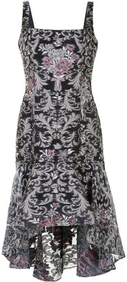 Marchesa Notte Damask Fils Coupe High-Low Dress