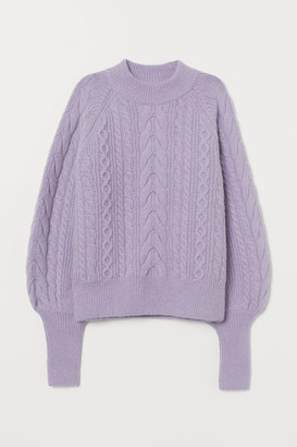 H&M Cable-knit Wool-blend Sweater - Pink