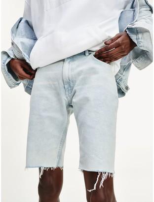 Tommy Hilfiger Lewis Hamilton Bleach Wash Denim Shorts