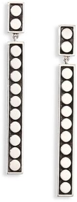 John Hardy Dot Sterling Silver Linear Drop Earrings