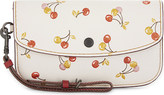 Coach 1941 cherry leather clutch