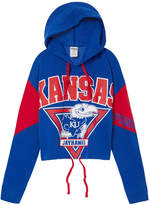 Victoria's Secret Victorias Secret University of Kansas Cropped Cinched Hem Hoodie